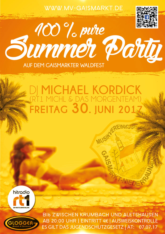 100% pure Summer Party Gaismarkter Waldfest